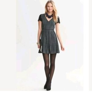 Banana Republic Textured Tweed Fit and Flare Dress